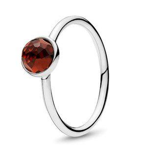 🍓Pandora January Droplet Birthstone Ring